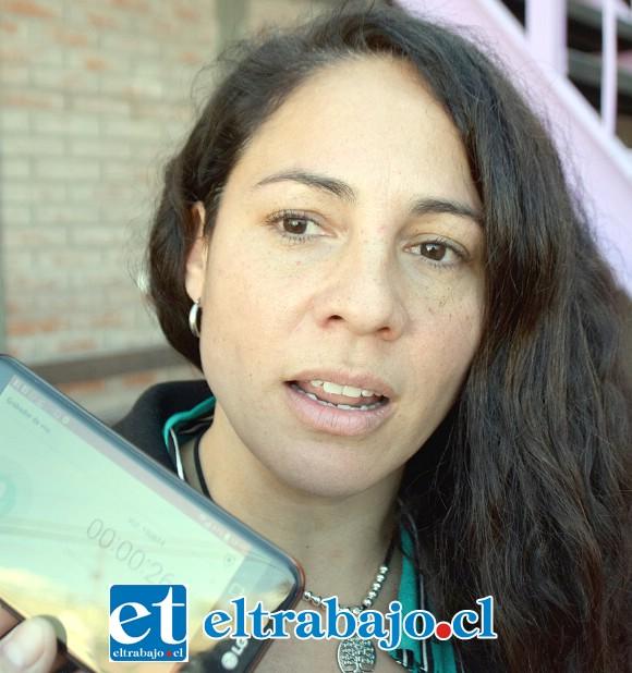 Angélica Sepúlveda, coordinadora de la Oficina Municipal de la Discapacidad.