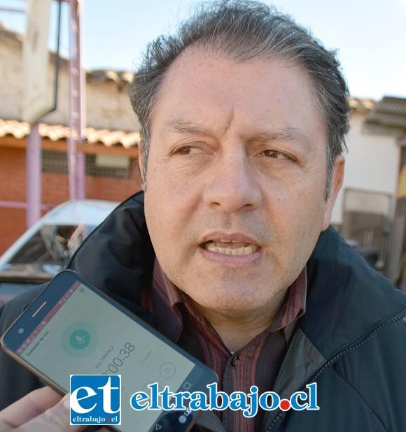 Claudio Srayy, jefe de Conservación de Vialidad de San Felipe.