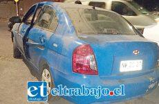 El denunciante dejó su vehículo estacionado en el sector Punta del Olivo de San Felipe.