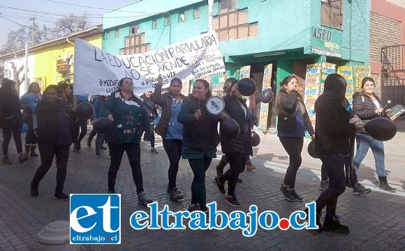 'La Educación Parvularia No se vende', reza uno de los carteles.