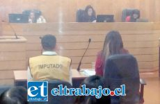 El imputado Walter Sebastián Campos Villalobos durante la audiencia del juicio oral en su contra.