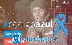 Hasta hoy martes permanecerá activada la alerta 'Código Azul' para recibir a personas en situación de calle.