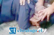 A través de redes sociales se viralizó el video de la detención ciudadana del sujeto, quien fue acusado de agredir a una mujer en las afueras de un supermercado de Calle Merced con Toro Mazote.