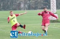El volante de corte, Leandro Fioravanti (5) ya está en condiciones de ser considerado para el duelo ante Coquimbo Unido.