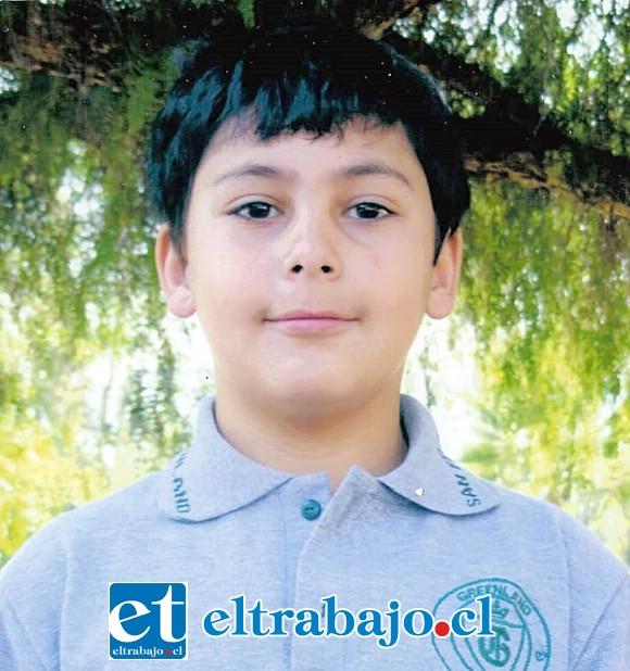 Guido Cabello López cuando tenía 8 años de edad.