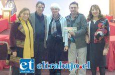 La titular del Parque Juncal, Catherine Kendrich (al centro), fue distinguida por su tremendo aporte a la protección ambiental. A la derecha, la Core María Victoria Rodríguez.