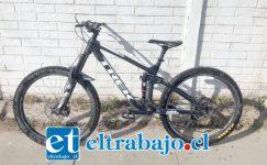 Esta es la bicicleta que fue robada desde un inmueble ubicado en Salinas con Uno Norte.