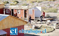 Así lucían las obras hace pocos meses cuando desmantelaron campamento minero de compañía Vizcachitas Holding.
