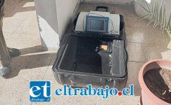 Carabineros recuperó la máquina de diálisis abandonada en las cercanías de la Parroquia Andacollo de San Felipe.