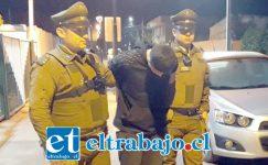 El antisocial conocido en Llay Llay como 'Patito Pate Lija' nuevamente fue capturado por Carabineros para ser derivado ayer domingo a Tribunales.