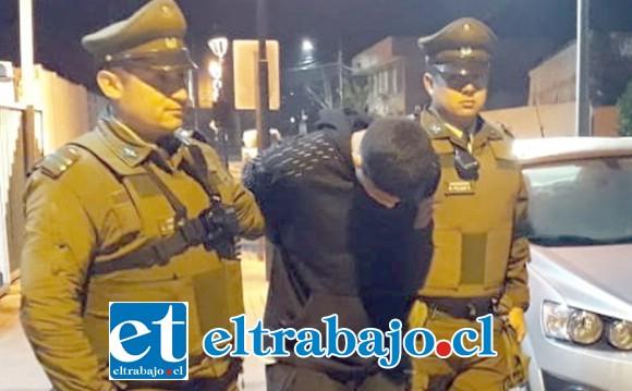 En junio de este año, el delincuente conocido como 'Patito Pate Lija' fue detenido por Carabineros, acusado de cometer el robo de especies desde una vivienda ubicada en la población Morandé de Llay Llay.