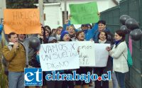 HUELGA NACIONAL.- Cerca de 10.000 empleados de la empresa multinacional Walmart iniciaron una huelga indefinida el día de ayer miércoles en todo el país, los empleados de Líder San Felipe también se manifestaron.