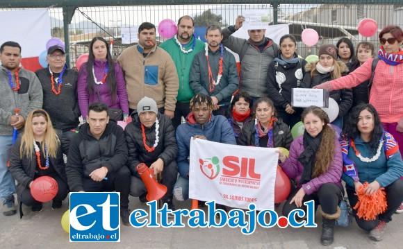 ACUENTA TAMBIÉN.- Los sindicalistas de Acuenta, también en San Felipe, se plegaron también a esta movilización nacional.