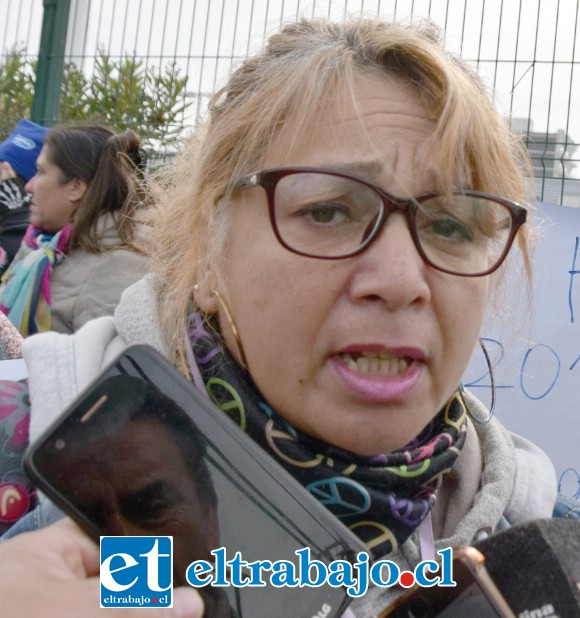 Delegada del Sindicato Interempresa Líder de San Felipe, Verónica Lazo.