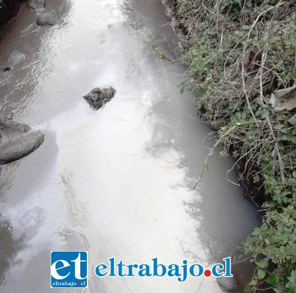 Más aguas servidas en acequia que debiera estar seca porque en este tiempo no se riega.
