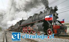 VIENE EL TREN.- Muy pronto un tren más hermoso que este podría estar recorriendo todo el Valle de Aconcagua hasta llegar a Quintero, y regresaría de nuevo a Los Andes en horas de la tarde. (Referencial)