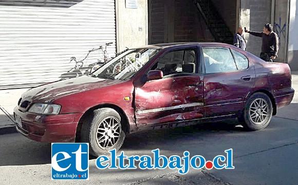 El conductor de este vehículo se desplazaba por Chacabuco al oriente, con paso preferente.