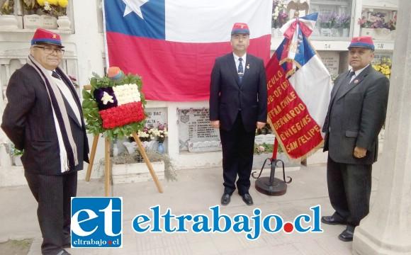 La directiva encabezada por Marco Besárez Fuentes rinde homenaje a los seis sanfelipeños que participaron del asalto y toma del morro de Arica.