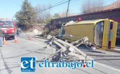 El accidente ocurrió cerca del mediodía de ayer lunes en la ruta Troncal 601 (Ex 60 CH) en Panquehue.