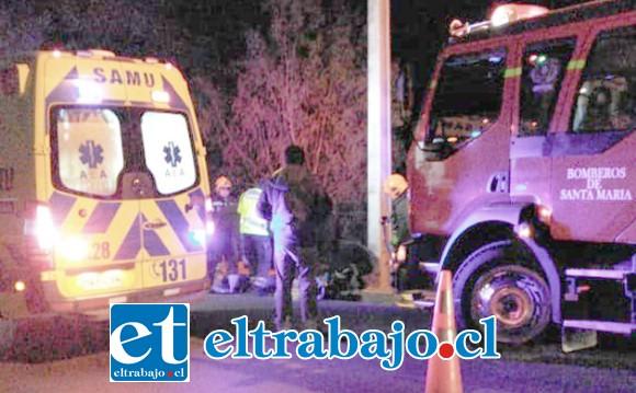 Hasta el lugar concurrió Bomberos y personal del SAMU, quienes nada pudieron hacer ya que el joven falleció en el mismo lugar del accidente.
