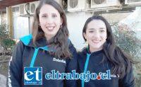 De izquierda a derecha Soledad Bustamante y Gabriela Villaseca, miembros de la directiva del Ballet Folklórico San Felipe de Aconcagua.