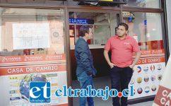 Esta es la casa de cambio que intentaron robar, ubicada en calle Prat 585 de San Felipe.