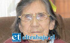 Hilda Ramírez, cumplirá 108 años el próximo 12 de septiembre.