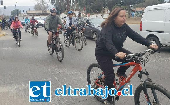 No importó la edad, niños y grandes disfrutaron del paseo, dejando claro que estas ciclovías sí son necesarias.