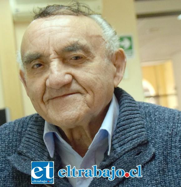 Presidente del coro, Elías Tapia Guerrero.