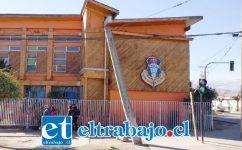 Frontis de la escuela José Manso de Velasco. (Gentileza RP)