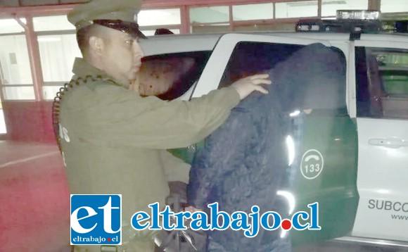 El joven de 19 años de edad fue detenido por Carabineros de la comuna de Catemu.