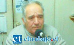 César Cubillos, presidente de Asociación de Pensionados de San Felipe.