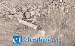 Parte de los fragmentos levantados en el sitio del suceso.