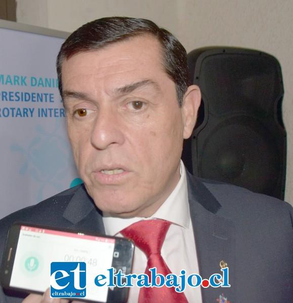 Rubén Barrientos Figueroa, presidente del Rotary Club de San Felipe.