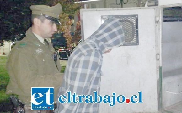 El entonces imputado fue detenido por Carabineros de la Tenencia de Catemu el pasado 30 de julio de 2018. (Fotografía Referencial).