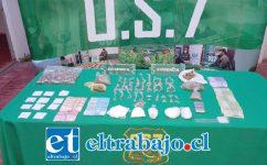 El 26 de septiembre del año pasado, personal del OS7 de Carabineros Aconcagua decomisó drogas, una pesa digital y dinero en efectivo desde el inmueble del actual condenado en la Villa Departamental de San Felipe.