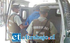 El imputado fue detenido por Carabineros el 29 de junio del 2017 en el sector 21 de Mayo de San Felipe. (Fotografía Referencial).