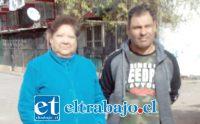 Glady Hidalgo, secretaria de Población Encón, junto a Miguel Torres, presidente del Condominio Peumayén.