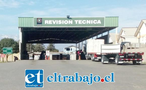 Esta es la actual planta de revisión técnica de San Felipe, que debe cerrar sus operaciones el próximo 30 de septiembre.