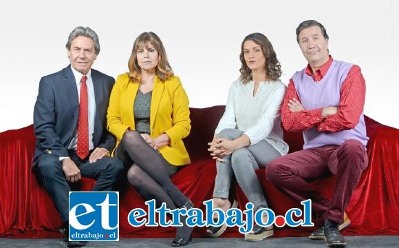 El elenco de esta hilarante obra está compuesto por destacados actores nacionales como Claudio Valenzuela, Verónica González, Álvaro Pacull y Magdalena Marzolo.