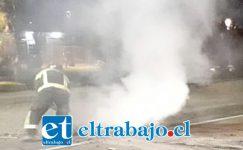 Los incidentes se registraron durante la noche de este martes en las comunas de San Felipe y Panquehue, en la previa del 11 de Septiembre.