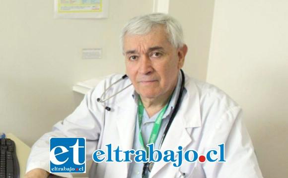 Dr. Raúl Cáceres, médico broncopulmonar del Hospital San Juan de Dios de Los Andes.