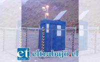 En seis puntos del valle se realiza el 'bombardeo' de nubes para estimular precipitaciones. En la imagen, la estación ubicada en el sector Piuquenes, al interior de la División Andina.