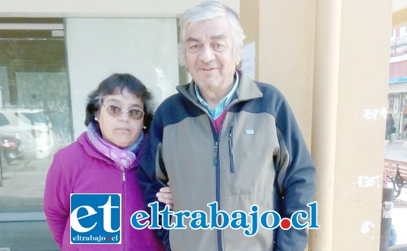 Patricio Jofré junto a su esposa María Elena.
