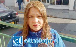 Rosa Olivares, presidenta del sindicato de trabajadores de parquímetros.