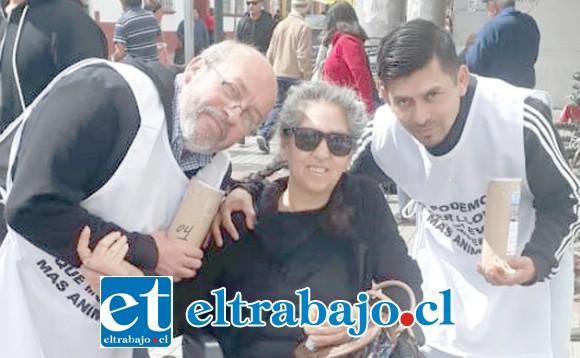 NO IMPORTA LA EDAD.- Cecilia Casas fue otra de las sanfelipeñas que se hizo presente en esta campaña.