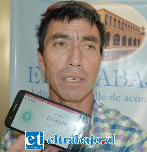 Freddy Moreno, vocero de los crianceros independientes de Putaendo.