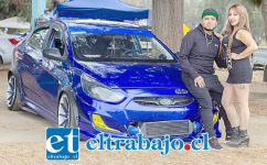 CALENTANDO MOTORES.- Aquí tenemos al campeón nacional KDM 2018, (Ranking Caraudiotunning) Javier Aravena, listo con su auto para el próximo Tunning.