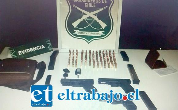 Carabineros incautó las armas de fuego y municiones el 28 de abril de 2018.  El sentenciado deberá cumplir una pena única de siete años de cárcel por este delito.
