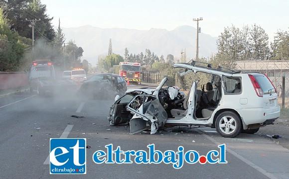 El fatal accidente de tránsito ocurrió la madrugada de ayer domingo en la carretera San Martín de San Felipe.